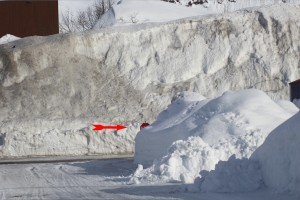 Alaska 2012-30 feet of snow stopsign